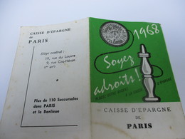 Calendrier De Poche/à Deux Volets/Caisse D'Epargne/Paris/Rue Du Louvre /Bilboquet/1968     CAL415Bis - Calendriers