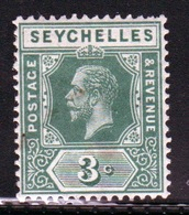 Seychelles George V 1917 Single 3 Cent Green Stamp. - Seychelles (...-1976)