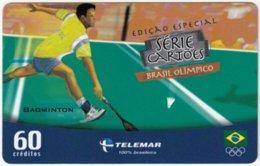 BRASIL G-483 Magnetic Telemar - Event, Olympic Games, Badminton - Used - Brasilien