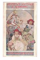 CARTOLINA CARTE POSTALE POSTKARTE POST CARD   Illustratore  MUCHA - Pubblicitari
