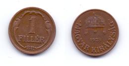 Hungary 1 Filler 1928 - Hongrie