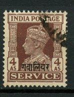 Gwalior 1947 4as King George VI Issue #O60 - Gwalior