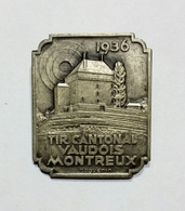 SVIZZERA / SUISSE / SWITZERLAND - TIR CANTONAL VAUDOIS - MONTREUX (1936) / Epingle - Spilla - Pin (29x24mm) - Pin's