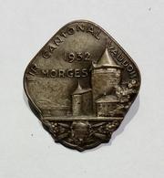 SVIZZERA / SUISSE / SWITZERLAND - TIR CANTONAL VAUDOIS - MORGES (1932) / Epingle - Spilla - Pin (27x25mm) - Pin's