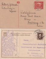 TCHECOSLOVAQUIE LOT DE 2 ENTIERS POSTAUX  CARTE - Postal Stationery