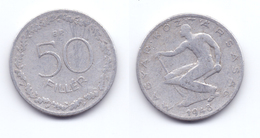 Hungary 50 Filler 1948 First Republic - Hungary
