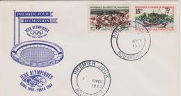 FDC MAURITANIE JEUX OLYMPIQUES DE TOKYO 1964 - Verano 1964: Tokio