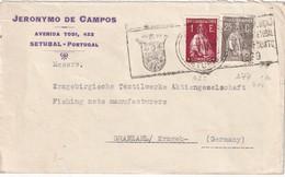 PORTUGAL 1930 LETTRE DE SETUBAL - 1910-... République