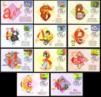 Ukraine 2018 MAXI CARD Sheet Block 11 Postage Stamps Ukraine Alphabet Animal Squirrel Dragon Hare Bear #719 - Ukraine