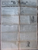 Journal Le Matin (26 Juil 1918) Oulchy La Ville - Récit D'un Pilote D'avion - Réserves De L'ennemi - Journaux - Quotidiens
