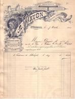 LOIRE - ST , SAINT ETIENNE - ENTÊTE ART NOUVEAU , FEMME , DRAGON - IMPRIMERIE LITHOGRAPHIE PAPETERIE - A. WATON - 1903 - France
