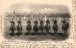 CPA MILITARIA - 7EME REGIMENT DE DRAGONS - LES ANCIENS ETENDARDS - Regiments