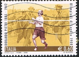 2008 - ITALIA - OMAGGIO A DORANDO PETRI - MARATONETA / HOMAGE TO DORANDO PETRI - LONG-DISTANCE RUNNER. USATO. - Summer 1908: London
