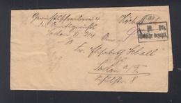 Dt. Reich Faltbrief Gebühr Bezahlt Höchst A. M. 1923 - Deutschland