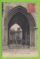 ALAIS - ALES - LE PORCHE DE LA CATHEDRALE - Carte Centenaire écrite En 1906 - Alès