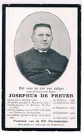 Dp. Onder-Pastoor Te Berlaer En Antwerpen. De Preter Josephus. ° Hallaer 1870 † Antwerpen 1906 - Religion & Esotérisme