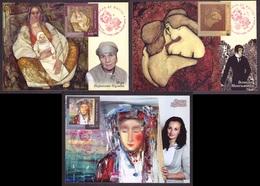 Ukraine 2018 Set MAXI CARD Love Is Life Three Paintings Ukrainian Artist #729 - Ukraine