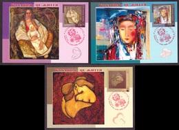 Ukraine 2018 Set MAXI CARD Love Is Life Three Paintings Ukrainian Artist #728 - Ukraine