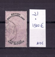 B E C H U A N A L A N D  --COLONIA INGLESA    SELLO MATASELLADO DENTADO CORTO  IVERT 1500€ - Stamps