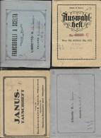 LOTTO 4 LIBRETTI PER FRANCOBOLLI - DUE TEDESCHI  - FORMATO PICCOLO 14,50X11 - USATI - Contenitore Per Francobolli