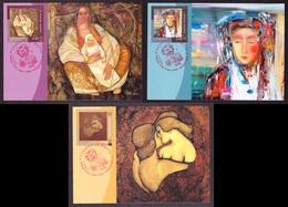 Ukraine 2018 Set MAXI CARD Love Is Life Three Paintings Ukrainian Artist #727 - Ukraine