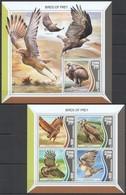 UU508 2017 SIERRA LEONE FAUNA BIRDS OF PREY KB+BL MNH - Adler & Greifvögel