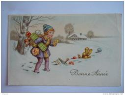 Bonne Année Fillette Jouets Nounours Poupée Meisje Speelgoed Beer Pop Amag 3261 Gelopen Circulée 1940 - Nouvel An