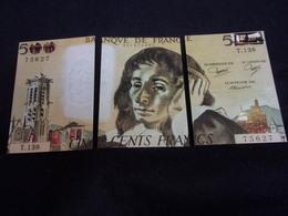CPSM .Banque . Monnaie . Billet De 500 Francs . 3 Cartes Puzzle .Voir 2 Scans . - Cartes Postales