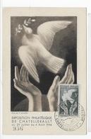 Carte Maximum 1946 Exposition Philatelique De Chatellerault - Maximum Cards