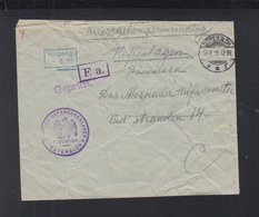Dt. Reich Offlag Gütersloh Brief 1915 Nach Dänemark - Deutschland