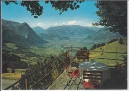 LIECHTENSTEIN BLICK INS RHEINTAL VOM BERGGASTHOF MASESCHA TRIESENBERG - Liechtenstein