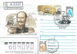 W30 RUSSIA 1997 F.P. Litke 200 YEARS FROM THE BIRTHDAY. (POST OFFICE Arkhangelsk) - Polar Explorers & Famous People