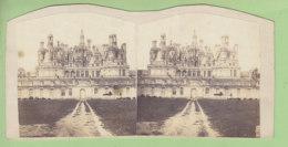 Le Château De CHAMBORD  Vers 1860 - 1870 : Le Bâtiment Au Premier Plan A Encore Un étage. Photo Stéréoscopique. 2 Scans - Photos Stéréoscopiques