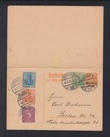 Dt. Reich GSK Mit Antwort 1922 Berlin ZD - Deutschland