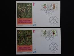 BERLINO 1984 - 2 F.D.C. Orchidee + Spese Postali - FDC