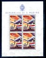 1965 SAN MARINO POSTA AEREA BF37 MNH ** AEREI MODERNI - Blocchi & Foglietti