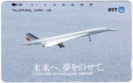 JAPAN H-984 Magnetic NTT [390-430-1991.2.1] - Traffic, Airplane, Concorde - Used - Japan