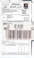VR China Huanghezhong EPacket Expres - Label + Deutsches Label - 1949 - ... République Populaire