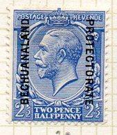 AFRIQUE - BECHUANALAND - (Protectorat Britannique) - 1914-21 - N° 32 - 2 1/2 P. Bleu - (George V) - Bechuanaland (...-1966)