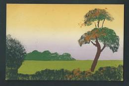 Paysage Peint à La Main. Travail Soigné. M.M.B. 507 - Cartes Postales