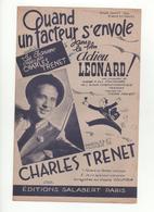 Partition Quand Un Facteur S'envole Charles Trenet - Scores & Partitions