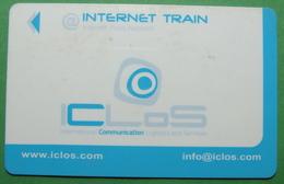 Italy INTERNET TRAIN CARD USED, Operator ICLOS - Da Identificare