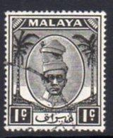 Malaya Perak 1950-6 Sultan Izzuddin Shah Definitives 1c Value, Used, SG 128 - Perak