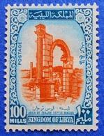 201 LIBYA 100 M 1965 UNESCO ARCH OF TRAJAN,LEPTIS MAGNA - MNH - Libya