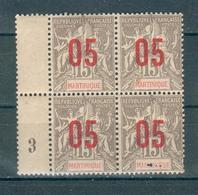 FRANCE ; MARTINIQUE ; 1912 ; Y&T N° 78 ; Bloc De 4 ; Neuf - Martinique (1886-1947)