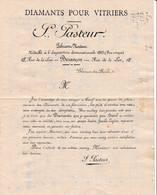 25 BESANCON TARIF 189. Diamants Pour Vitriers PASTEUR  A87 - 1800 – 1899