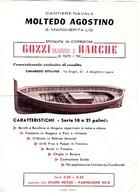 MOLTEDO AGOSTINO GOZZI E BARCHE SANTA MARGHERITA LIGURE - PUBBLICITA' ORIGINALE ANNI '60 - Advertising