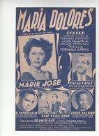 Partition Maria Dolorès Boléro - Scores & Partitions