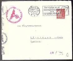 Nazi Censor 1942 Esbjerg Statstelegram Paa Festblanket  > Höningen (93) - 1913-47 (Christian X)