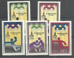 IVERT Nº1548/53**1979 KOREA NORTE - Verano 1980: Moscu